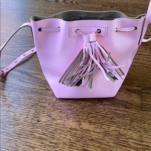 Jcrew pink leather crossbody